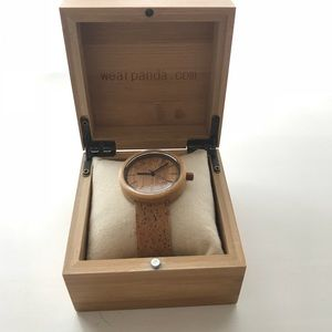 Bamboo and cork watch - unisex